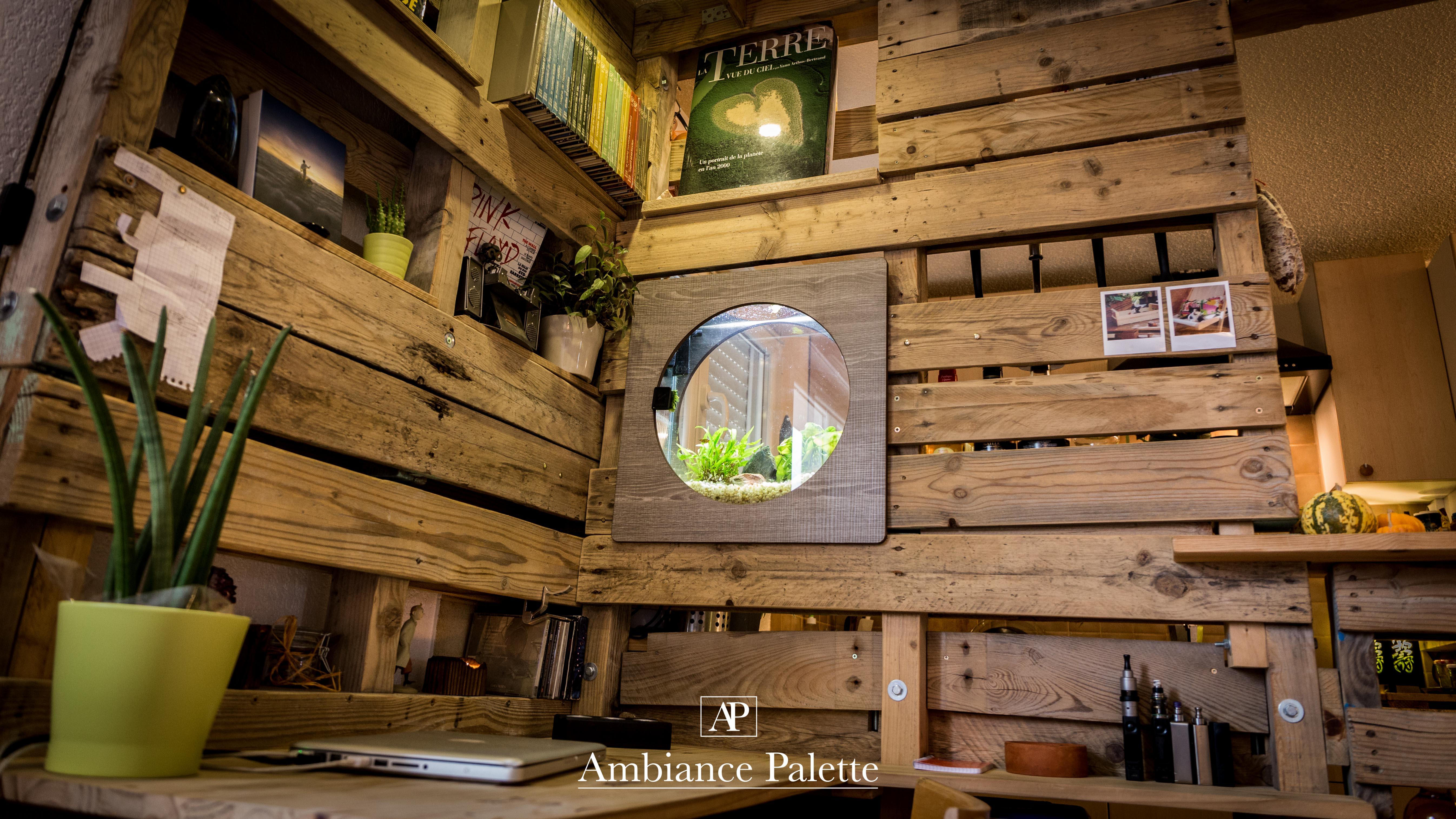Meuble cuisine bar bureau bibliotheque ambiance palette