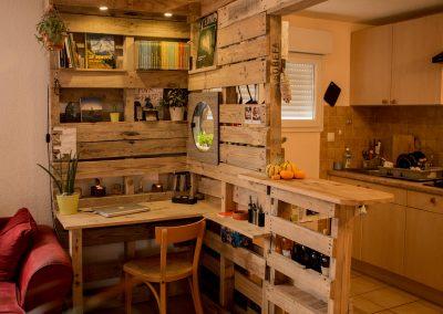 Meuble cuisine bar bureau bibliotheque