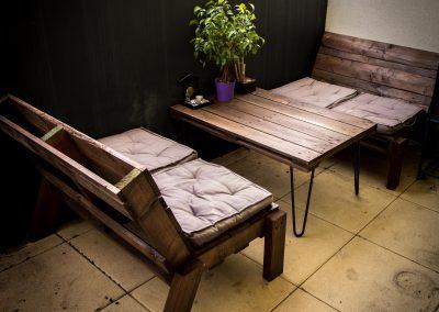 Salon de jardin balcon table basse pied Ripaton par Ambiance Palette (2)