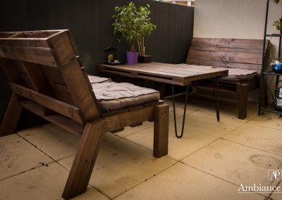 Salon de jardin balcon table basse pied Ripaton par Ambiance Palette (3)