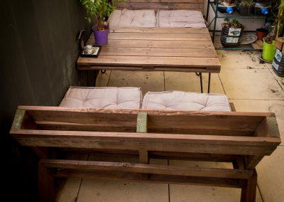 Salon de jardin balcon table basse pied Ripaton par Ambiance Palette (4)